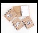 Diseños de libreta kraftcomo detalle de boda y comunión para tus invitados