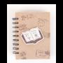 Libreta kraft con diseño exterior libro como detalle de boda para tus invitados