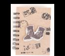 Libreta kraft con diseño exterior zapatillas como detalle de boda para tus invitados