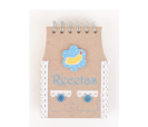 Libreta recetas krakt con diseño de delantal plátano como detalle para los invitados de boda, comunión y eventos