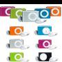 MP3 player con auriculares, cable USB y clip para enganchar en diferentes colores muy original como detalle de boda, comunión o evento para tus invitados