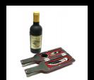 Original botella de vino que contiene un set de 3 piezas como detalle para los hombres invitados a tu boda o evento