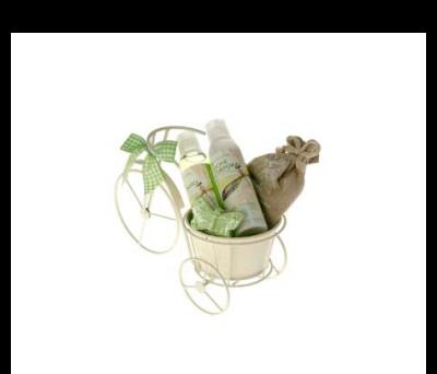 Set baño bicicleta con gel de baño, sal de baño, jabón ángel 30gr., saquito perfumado como regalo original