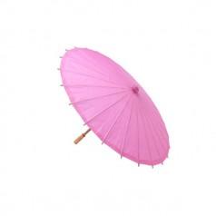 parasol papel bambú en color rosa para los días de verano. Dale un toque de glamour a tu boda o evento