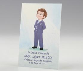Estampa Comunión niño almirante azul para detalles de invitados