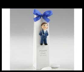 Imán Comunión niño almirante azul con caja para detalles de invitados ZP9720