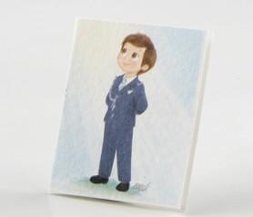 Tarjetas Comunión niño almirante azul