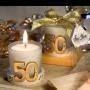 vela boda 50 aniversario ideal detalle para las parejas que celebran sus bodas de oro