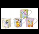 Tazas animalitos en presentación estuche castillo ideales para los eventos infantiles, comuniones y bautizos para los niños del evento