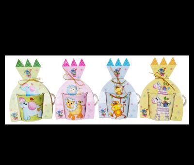 Tazas animalitos en presentación estuche castillo ideales para los eventos infantiles, comuniones y bautizos