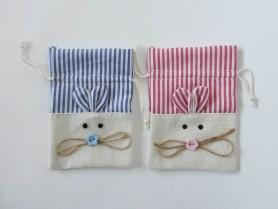 Divertida bolsita de ratón, ideal para guardar en su interior los dientes de los más pequeños o los detalles de bautizo
