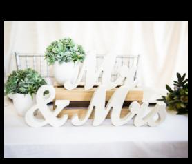 letras Mr & Mrs para decorar cualquier hambiente de tu boda o evento