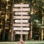 Señales de madera de bodas y comuniones