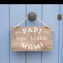 personalización cartel de madera 60x40cm papi aquí viene mami