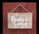 personalización cartel de madera 60x40cm para bodas vintage y rústicas