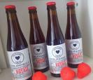 Cervezas artesanales de Aragón con etiqueta personalizada para los invitados de tu boda