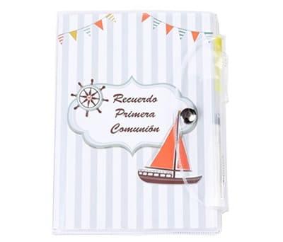 Libreta primera comunión marinero como detalle para los invitados