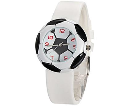 Reloj balón de fútbol en color blanco para regalar como detalle de comunión