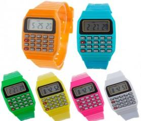 Reloj calculadora en diferentes colores ideal para los niños como detalle de comunión y regalo