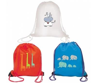 mochilas animales para la merienda para regalar a los niños en cumpleaños o para comuniones y bautizos