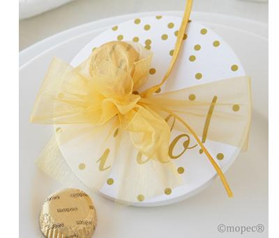 6 POSAVASOS CON TORINO CHOCOLAT como detalle para tus invitados de boda, comunión y bautizo