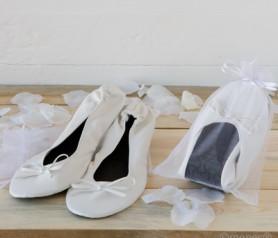 BAILARINAS BLANCA EN BOLSA como detalle para tus invitados de boda, comunión y bautizo