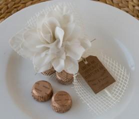 BOUQUET 2 TORINOS FLOR MARFIL como obsequio para tus invitados de boda, comunión y bautizo