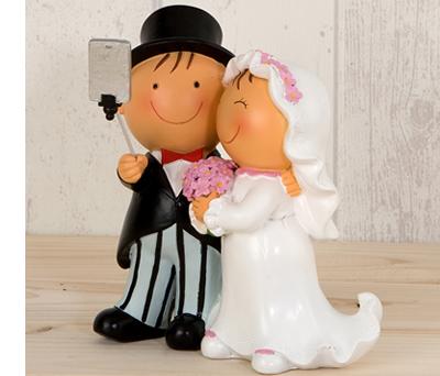 FIGURA PASTEL PIT & PITA FOTO SELFIE para la tarta o como regalo para los siguientes en casarse