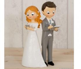 FIGURA PASTEL POP & FUN NOVIOS TECNOLÓGICOS para la tarta o como regalo para los siguientes en casarse