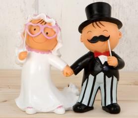 Figura de novios photocall para la tarta nupcial o como regalo para los siguiente en casarse