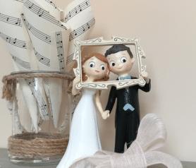 Figura de novios photocall para tarta de boda o regalar en tu boda.fw