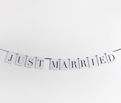 GUIRNALDA JUST MARRIED para decoración de boda
