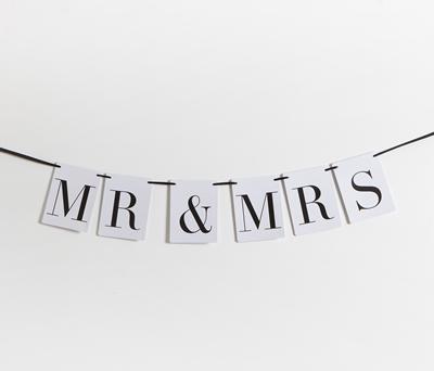 GUIRNALDA MR & mRS para decoración de boda