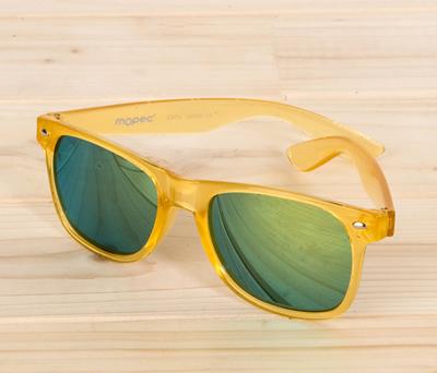 Gafas de sol amarillas lente espejo para regalar a los invitados de tu boda