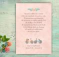 Invitación de boda acuarela con motivos de bicicletas