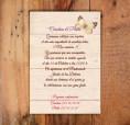 Invitación de boda vintage para bodas de estilo campestre