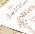 Invitación de boda vintage y floral para bodas románticas