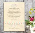 Invitaciones de boda vintage kraft love