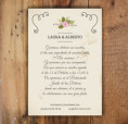 Texto para invitación de boda vintage estilo pizara