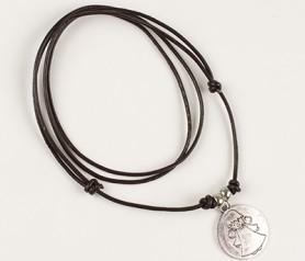 Colgante medalla ángel de la guarda como regalo para invitados de comunión