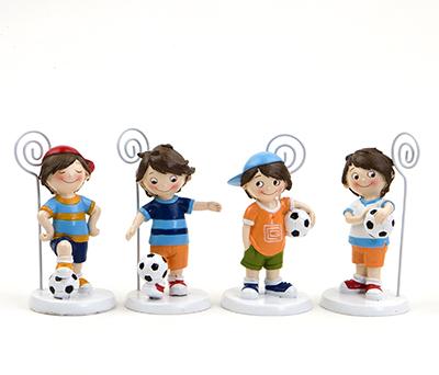 Portafotos futbolistas en 4 modelos detalle para invitados infantiles