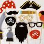 Set de postizos piratas 12 piezas para fiestas infantiles o Comuniones