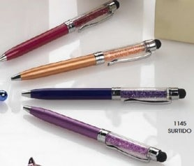 Bolígrafo cristalitos con puntero táctil para las mujeres invitadas a boda o eventos