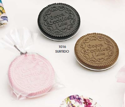 Espejo galleta con peine y bolsa original detalle de bosa o comunión para las mujeres invitadas