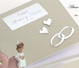 Libro de firmas para boda con grabación y personalización