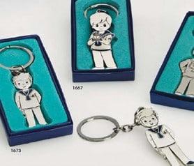 Llavero de comunión marinero en caja de regalo como recordatorio de la primera comunión de tu hijo