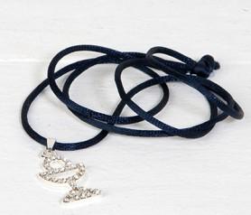 Colgante en forma de cáliz de Strass con cinta azul como recuerdo para los invitados de primera comunión