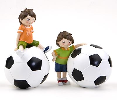Figura pastel y hucha futbolista Detalle Comunión