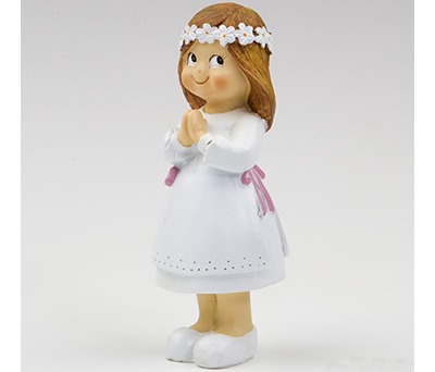 Figura para el pastel niña comunión poniendo ojitos