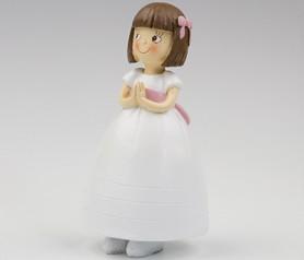 Figura pastel niña vestido princesa Recuerdo Primera Comunión